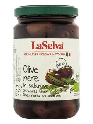 Schwarze Oliven bio von LaSelva